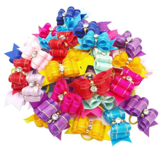 One Pack Colorful Hair Bows For Your Gorgeous Dogs And Cats - Woof Apparel