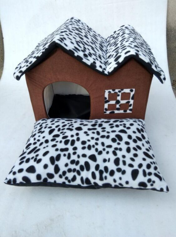 Dalmatian Inspired Foldable Dog House With Soft Pillow - Woof Apparel