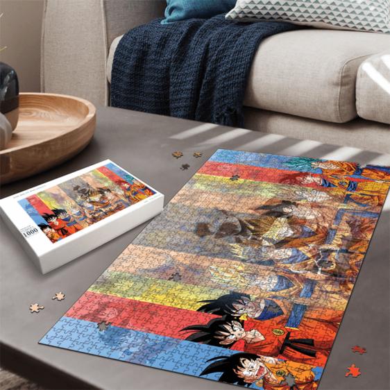 Dragon Ball All Goku Transformation UI Silhouette Puzzle