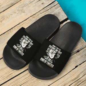 Dragon Ball Badass Smirking Vegeta Black Awesome Slide Slippers