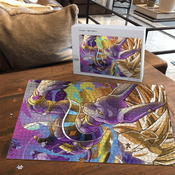 Dragon Ball Beerus God Of Destruction With Goku SSJ3 Awesome Puzzle