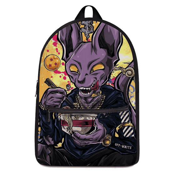 Dragon Ball Beerus Pop Culture Vector Art Dope Canvas Backpack