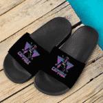 Dragon Ball Capsule Corp Future Trunks Retro Neon Dope Slide Sandals