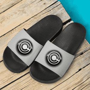 Dragon Ball Capsule Corporation Logo Gray Design Cool Slide Footwear