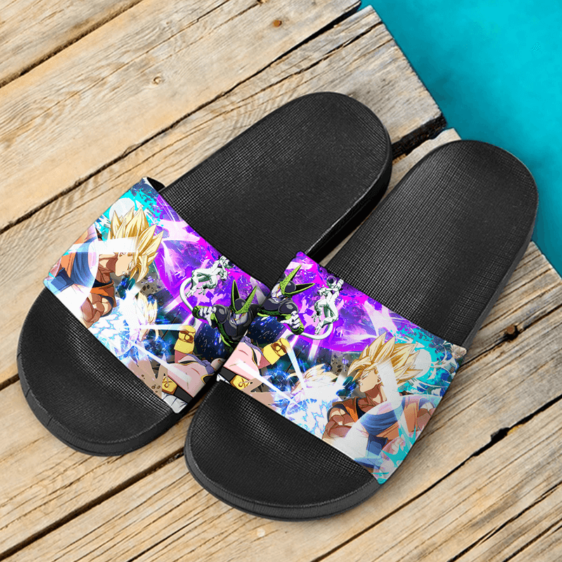 Dragon Ball FighterZ Goku Frieza Cell Fat Buu Vegeta Cool Slide Sandals