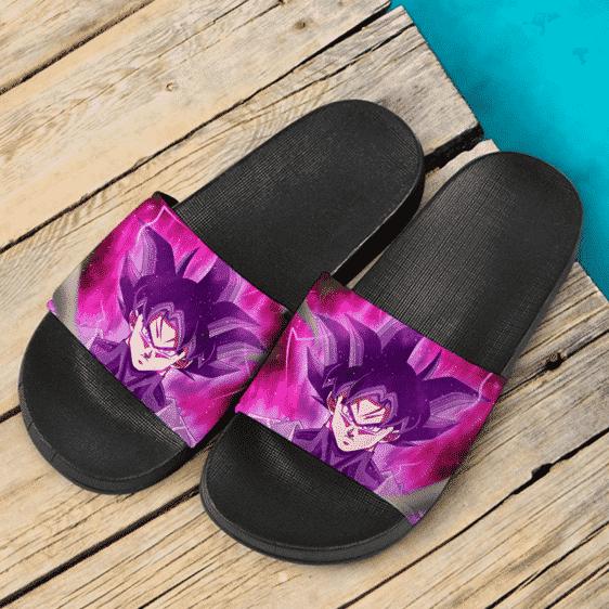 Dragon Ball Goku Black Base Form Pink Aura Dope Slide Footwear