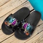 Dragon Ball Kakarot Goku Black Super Saiyan Rose Blue Dope Slide Slippers