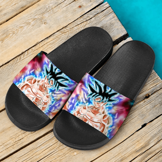Dragon Ball Kakarot Ultra Instinct Colorful Design Cool Slide Footwear