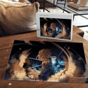 Dragon Ball Kid Gohan SSJ2 Battle Mode Awesome Puzzle