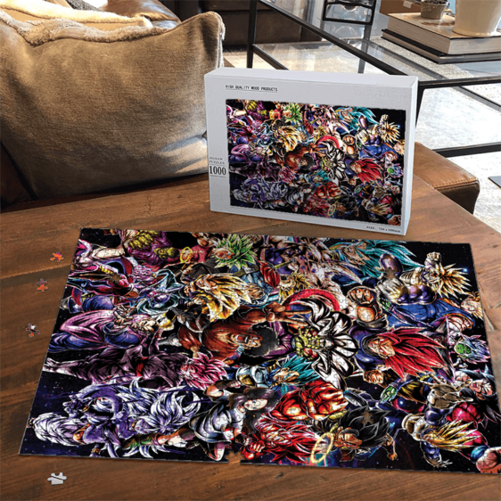 Dragon Ball Legends Collage Of Characters Goku Vegeta Puzzle