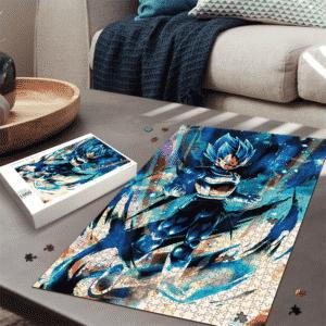 Dragon Ball Legends Vegeta Super Saiyan Blue Electrifying Portrait Puzzle