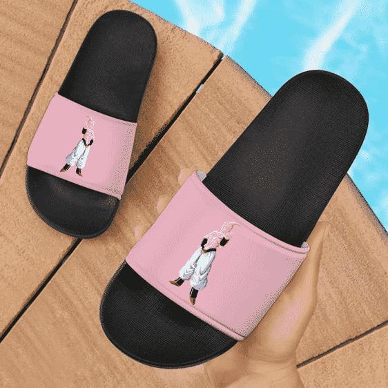 Dragon Ball Majin Buu Minimalist Style Art Pink Slide Slippers