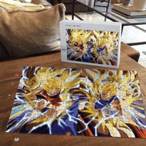 Dragon Ball Majin Vegeta Son Goku Dokkan Art SSJ2 Puzzle