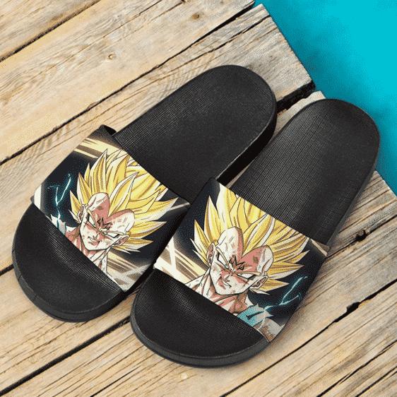 Dragon Ball Majin Vegeta Super Saiyan 2 Dope Slide Slippers