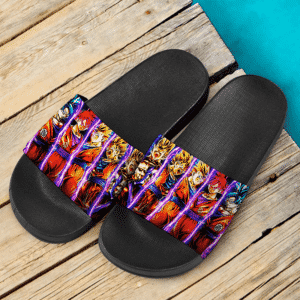 Dragon Ball Son Goku All Forms Majestic Art Slide Slippers