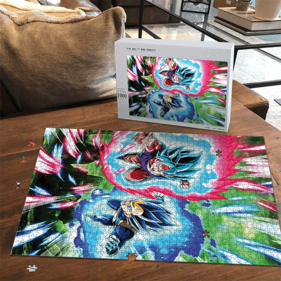 Dragon Ball Son Goku And Vegeta Attack Mode SSGSS Puzzle