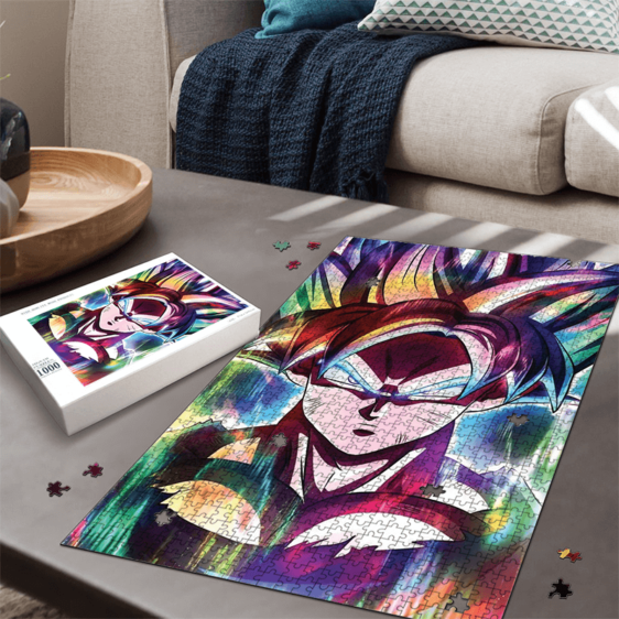 Dragon Ball Son Goku Explosive Rainbow Colors Fantastic Puzzle