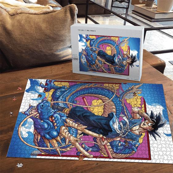 Dragon Ball Son Goku Kakarot Blue Shenron Cool Portrait Puzzle