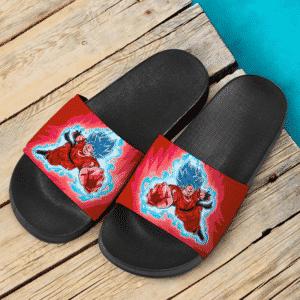 Dragon Ball Son Goku Super Saiyan Blue Kaioken Dope Slide Sandals