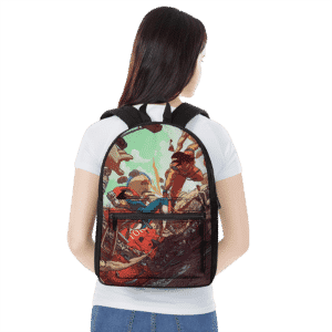 Dragon Ball Son Goku Versus Vegeta Saiyan Battle Dope Backpack