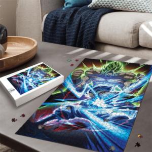 Dragon Ball Super Broly Versus Gogeta SSGSS Dope Portrait Puzzle