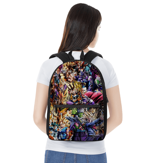 Dragon Ball Super Family Of Characters Fantastic Canvas Backpack