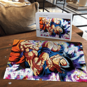 Dragon Ball Super Goku Ultra Instinct Colorful Portrait Puzzle