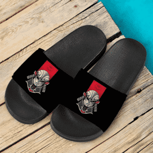 Dragon Ball Super Jiren The Gray Samurai Themed Black Slide Sandals