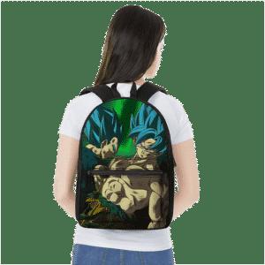 Dragon Ball Super Saiyan Blue Son Goku Vegeta Badass Backpack
