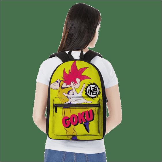 Dragon Ball Super Saiyan God Mode Goku Wisdom Kanji Backpack
