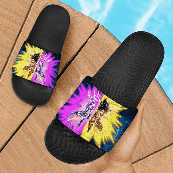 Dragon Ball Super Son Goku Frieza Teaming Up Cool Slide Slippers