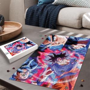 Dragon Ball Super Son Goku Ultra Instinct Colorful Landscape Puzzle