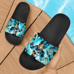 Dragon Ball Super Vegeta SSGSS Charging Up Fantastic Slide Sandals