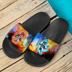 Dragon Ball Super Vegeta SSGSS Saiyan God Colorful Awesome Slide Sandals