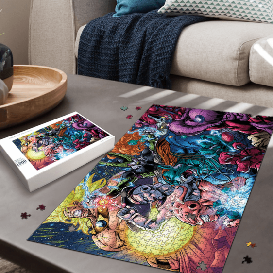 Dragon Ball Villains Cell Buu Frieza Broly Comic Style Artwork Puzzle