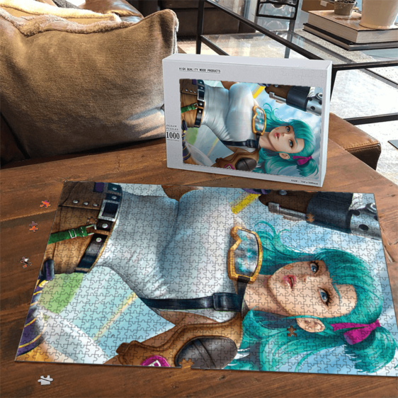 Dragon Ball Z Beautiful Bulma 3D Render Adorable Portrait Puzzle