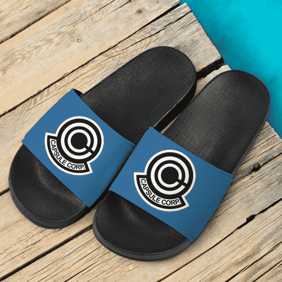 Dragon Ball Z Capsule Corp Blue Awesome Slide Sandals