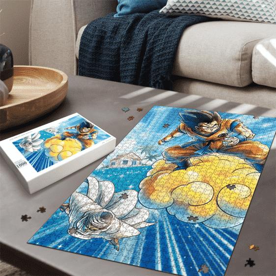 Dragon Ball Z Flying Goku And Piccolo Amazing Portrait Puzzle