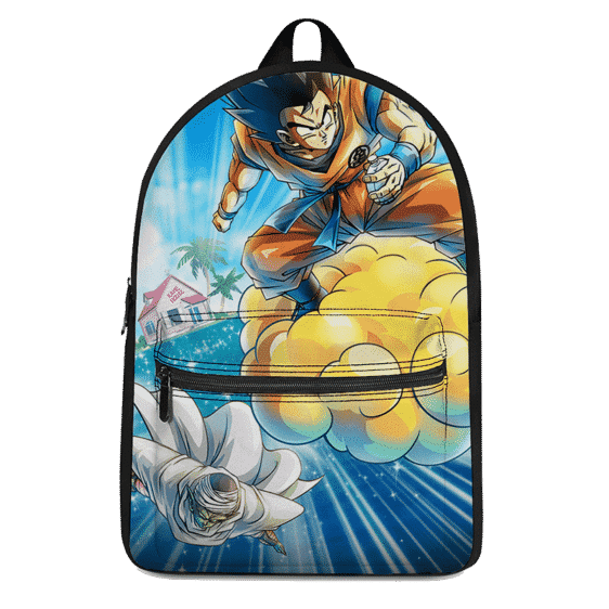 Dragon Ball Z Flying Goku And Piccolo Awesome Canvas Backpack