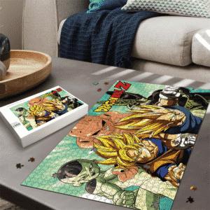 Dragon Ball Z Frieza Vegeta Goku Kid Buu Cell Cool Landscape Puzzle