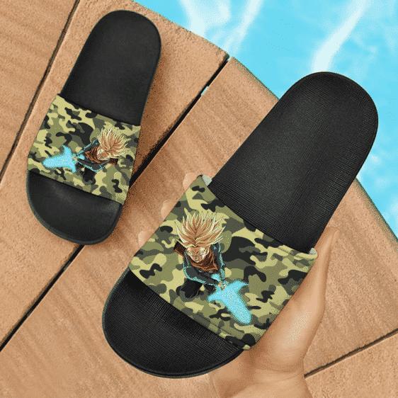 Dragon Ball Z Future Trunks SSJ2 Camouflage Awesome Slide Footwear