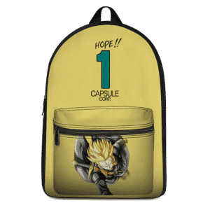 Dragon Ball Z Future Trunks Xeno Capsule Corp Yellow Backpack