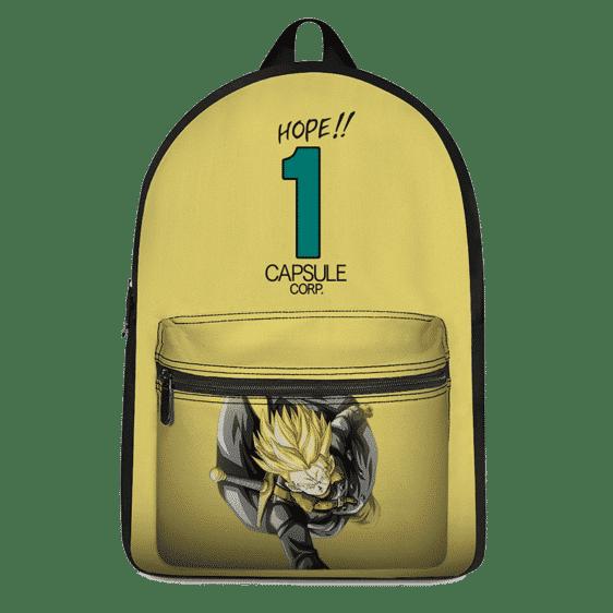 Dragon Ball Z Future Trunks Xeno Capsule Corp Yellow Backpack