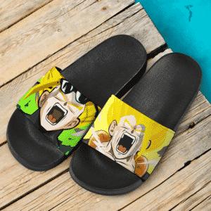 Dragon Ball Z Gogeta And Gohan Super Saiyan Flat Design Dope Slide Slippers