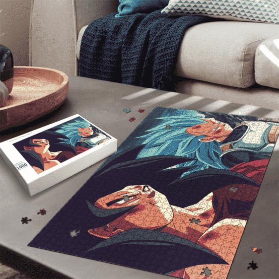 Dragon Ball Z Goku SSJ4 Vegeta Super Saiyan Blue Fan Art Puzzle