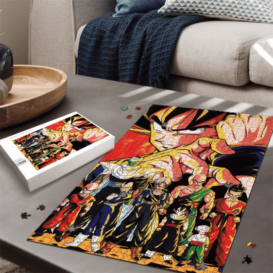Dragon Ball Z Goku Vegeta Piccolo And Others Cool Portrait Puzzle