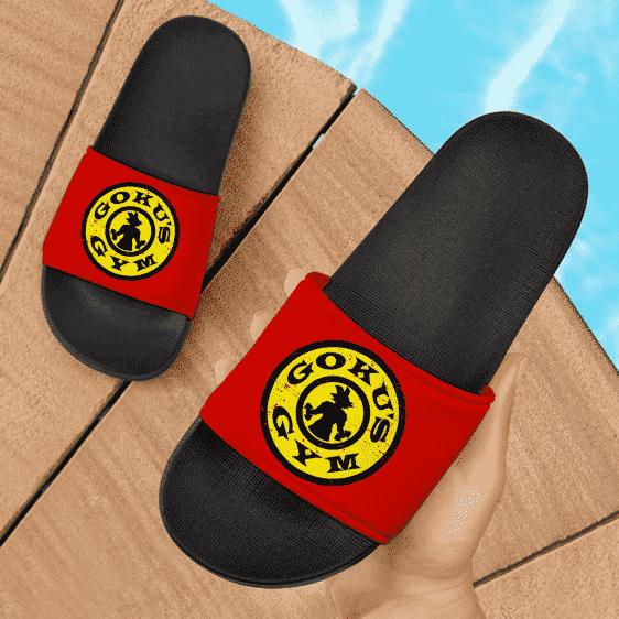 Dragon Ball Z Goku's Gym Awesome Red Slide Sandals