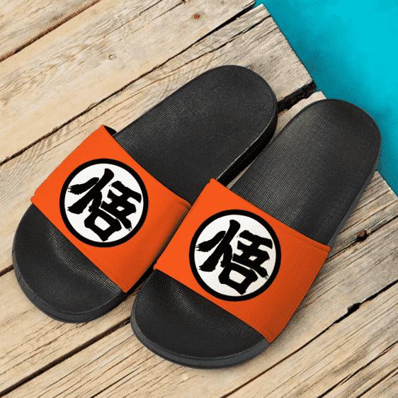 Dragon Ball Z Goku's Kanji Awesome Orange Slide Footwear