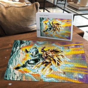 Dragon Ball Z Gotenks Super Saiyan 3 Dope Portrait Puzzle