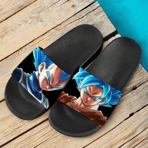Dragon Ball Z Intimidating Goku And Vegeta SSGSS Dope Slide Slippers
